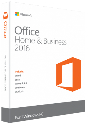 2 x MICROSOFT OFFICE 2016 HOME & BUSINESS FOR WINDOWS LIFETIME LICENSE