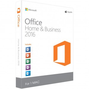 2 x MICROSOFT OFFICE 2016 HOME & BUSINESS FOR MAC OS LIFETIME